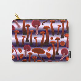Wild Crazy Mushrooms Carry-All Pouch