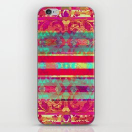Moroccan Magenta and Turquoise iPhone Skin