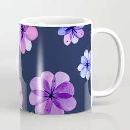 Translucent watercolor flowers with dark background Coffee Mug