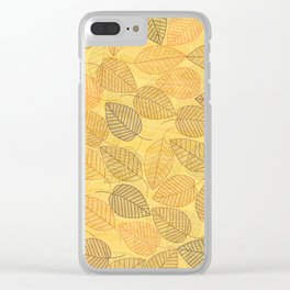 LEAVES ENSEMBLE YELLOW Clear iPhone Case