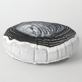 The Hole (Black and White) Floor Pillow