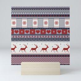 Scandinavian Christmas Pattern Mini Art Print