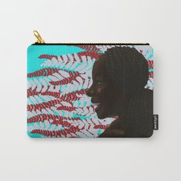 Black woman with braids floral Carry-All Pouch