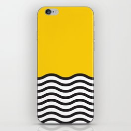 Waves of Yellow iPhone Skin