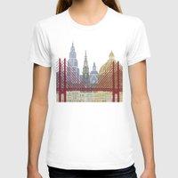 copenhagen T-shirts featuring Copenhagen skyline poster by Paulrommer