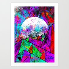 As a new planet is born Art Print