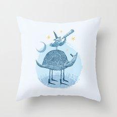 Tortoise & Owl Throw Pillow