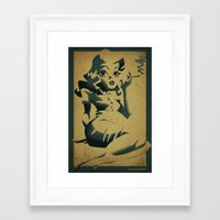 smoking Framed Art Prints featuring smoking by michael lombardi