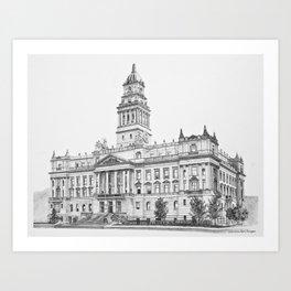 Wayne County Court House | Detroit Michigan Art Print