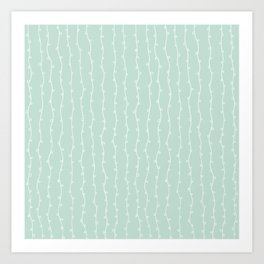 Willow Stripes - Sea Foam Green Art Print