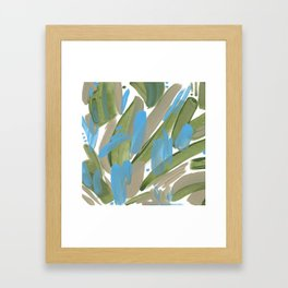 Lines and dots abstract Framed Art Print