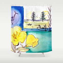 MICMAC Indian Legend, CANADA          by Kay Lipton Shower Curtain