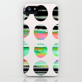 colorful circles pattern design iPhone Case