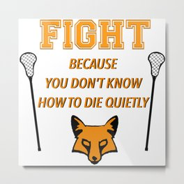 "The Foxhole Court – ""Fight"" – All For The Game Metal Print"