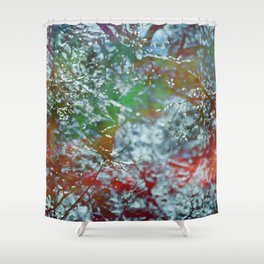 Green Frost Shower Curtain