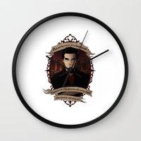 buffy the vampire slayer Wall Clocks featuring Angel - Angel/Buffy the Vampire Slayer by muin+staers
