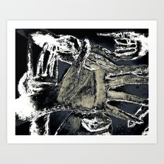 jungle of hands Art Print