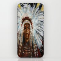 native american iPhone & iPod Skins featuring Native American by Mary J. Welty