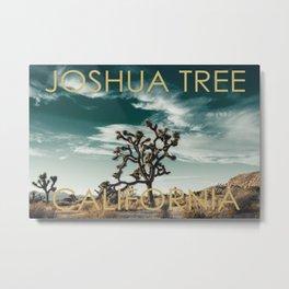 Joshua Tree Poster Metal Print