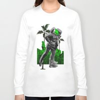 moscow Long Sleeve T-shirts featuring Moscow Jungles by Tate Bacalao