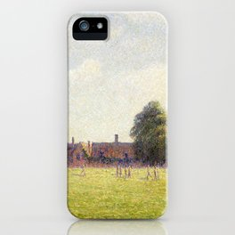 Camille Pissarro Hampton Court Green iPhone Case