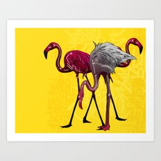 The Flamingo Gang Art Print