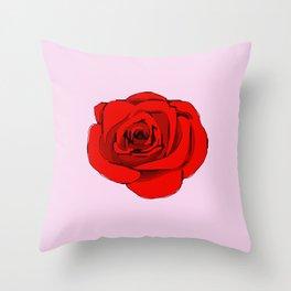 Red Rose. Throw Pillow