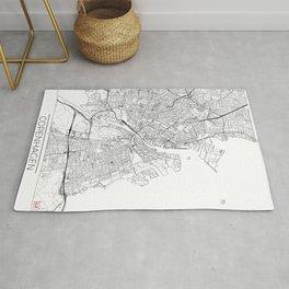 Copenhagen Map White Rug