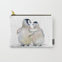 Two Little Penguins Carry-All Pouch