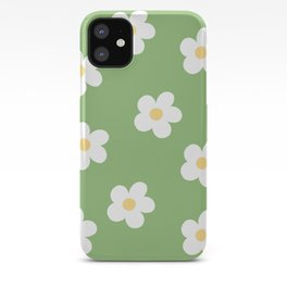 Retro 60's Flower Power Print iPhone Case