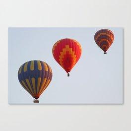 Hot air balloons launching at dawn Canvas Print