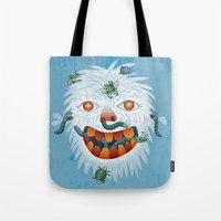 yeti Tote Bags featuring Yeti by Santiago Uceda
