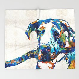 Great Dane Art - Stick With Me - By Sharon Cummings Throw Blanket