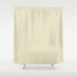 Christmas Eggnog Cream Snow Flakes Shower Curtain
