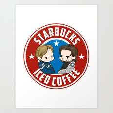Starbucks - Steve Rogers and Bucky Barnes Iced Coffee  Art Print