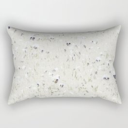 Pansy Field Floral Pattern Rectangular Pillow