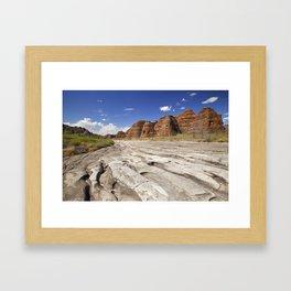 Dry riverbed in Purnululu National Park, Western Australia Framed Art Print