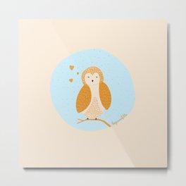 Cute little owl! ♡ Metal Print