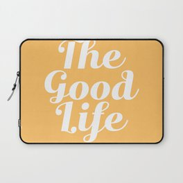 The Good Life - Yellow and White Laptop Sleeve