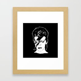 PORTRAIT OF A MUSIC ICON Framed Art Print