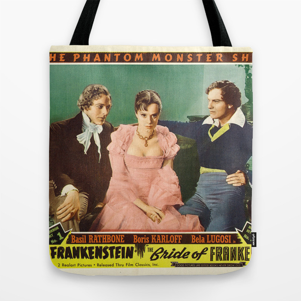 Vintage Movie Posters, Son And Bride Of Frankenste… Tote Bag by Esotericaartagency TBG8648254