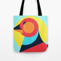 pagan Tote Bags featuring Pagan animals - Bird by Atelier FP7