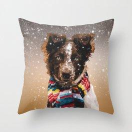 Dog Scarf Throw Pillow