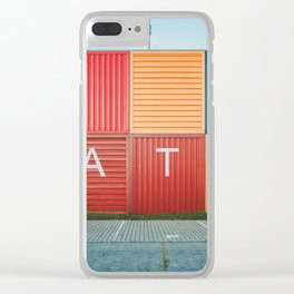 Amsterdam Noord Containers Clear iPhone Case
