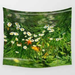 Upside Down Daisies Wall Tapestry