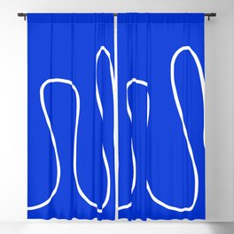 Blue Abstract Wave Blackout Curtain