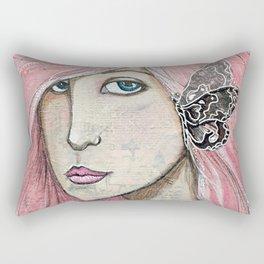 Time Enough Mixed Media Rectangular Pillow
