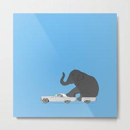 Thunderbird with elephant Metal Print