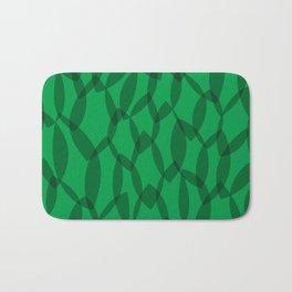 Overlapping Leaves - Dark Green Bath Mat