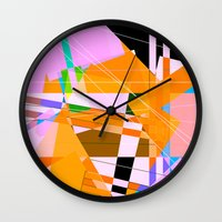 architect Wall Clocks featuring My Architect took acid by Hipsterdirtbag